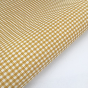 "100% Yarn Dyed Cotton 1/8"" Gingham - Mustard Gold"