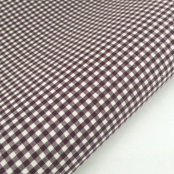 "100% Yarn Dyed Cotton 1/8"" Gingham - Burgundy"