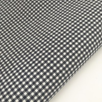 """100% Yarn Dyed Cotton 1/8"""" Gingham - Navy"""