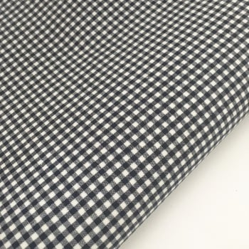 "100% Yarn Dyed Cotton 1/8"" Gingham - Navy"