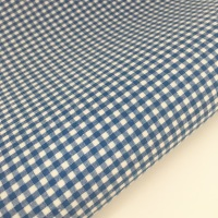 "100% Yarn Dyed Cotton 1/8"" Gingham - Royal Blue"