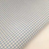 """100% Yarn Dyed Cotton 1/8"""" Gingham - Baby Blue"""