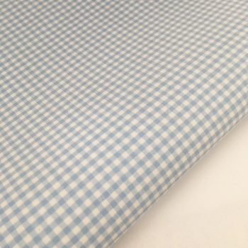 "100% Yarn Dyed Cotton 1/8"" Gingham - Baby Blue"