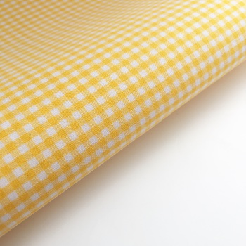"100% Yarn Dyed Cotton 1/8"" Gingham - Yellow"