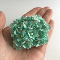 Mulberry Paper Flower Sweetheart Blossom Pastel Green