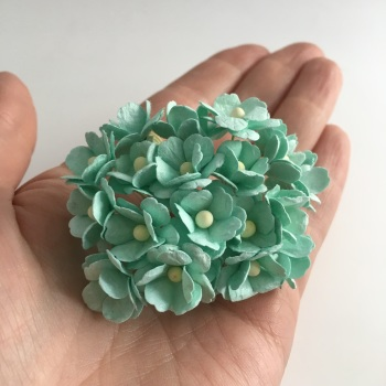 Mulberry Paper Flower Sweetheart Blossom Pastel Green - Estimated restock 26th July