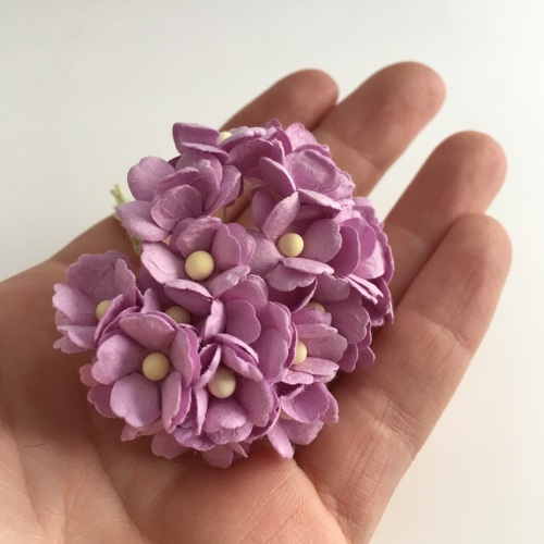 Mulberry Paper Flower Sweetheart Blossom Lilac