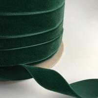 22mm Velvet Ribbon - Bottle Green