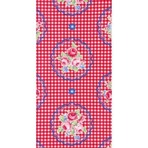 Lecien Flower Sugar Ross Kiss - Gingham Doilies Scarlet