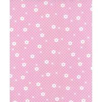 Lecien Flower Sugar Rose Kiss - Daisy Dot Cherry Blossom - Felt Backed Fabric