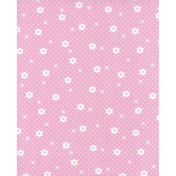 Lecien Flower Sugar Rose Kiss - Daisy Dot Cherry Blossom - Felt Backed Fabric