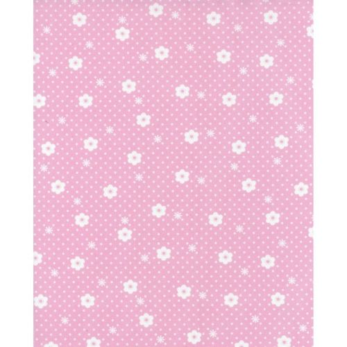 Lecien Flower Sugar Rose Kiss - Daisy Dot Cherry Blossom - Felt Backed Fabr