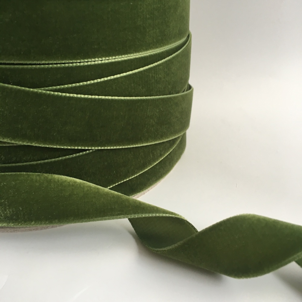 22mm Velvet Ribbon - Moss