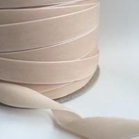22mm Velvet Ribbon - Beige