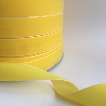 22mm Velvet Ribbon - Yellow