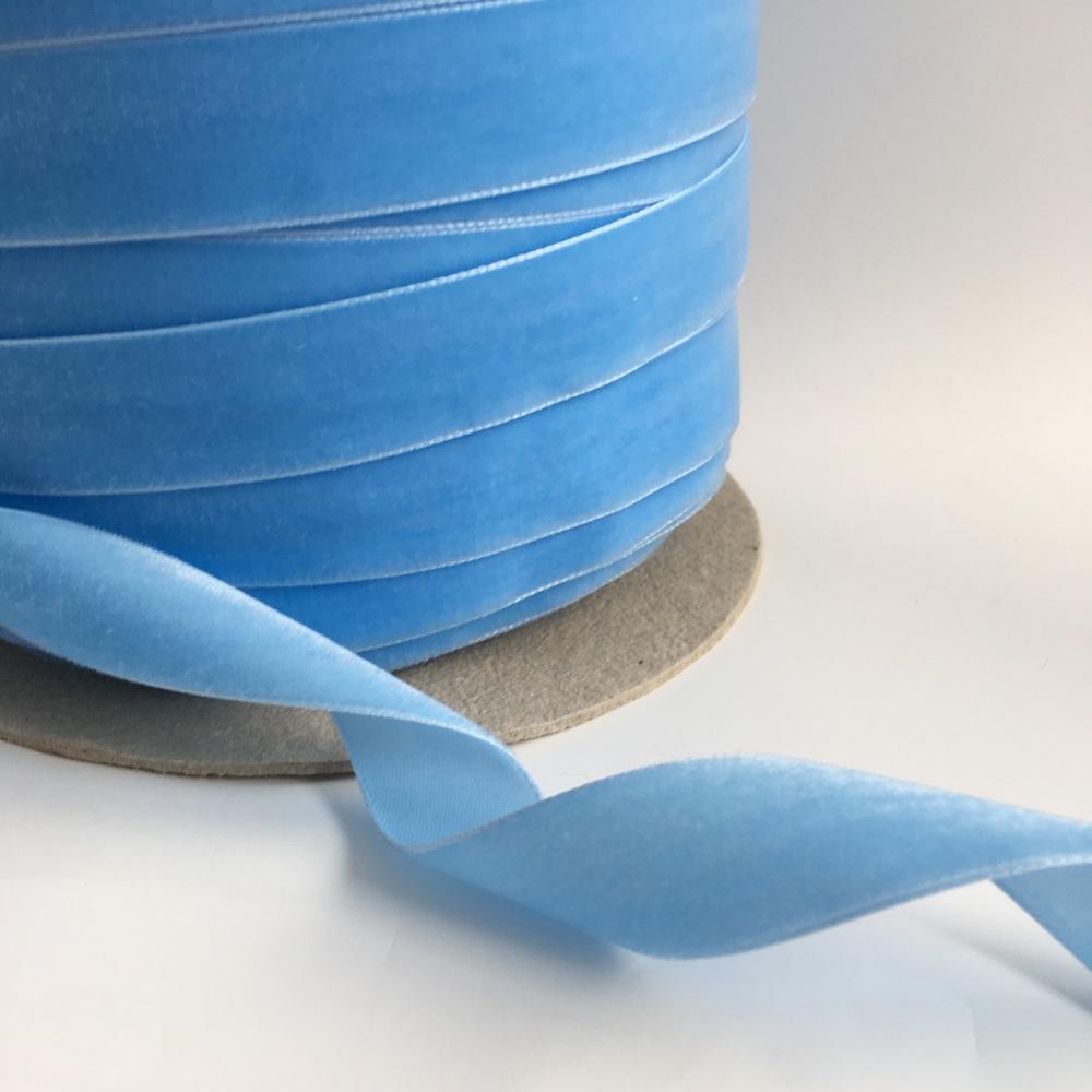22mm Velvet Ribbon - Baby Blue