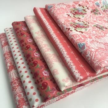 Lecien Fabric - Loyal Heights by Jera Brandvig - Strawberry Fat Quarter Bundle