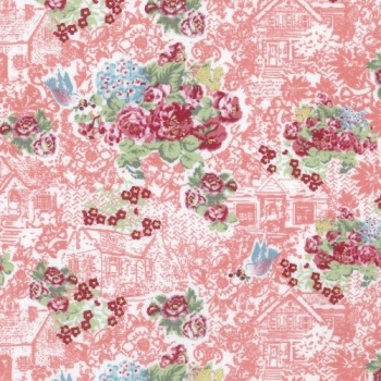 Lecien Loyal Heights by Jera Brandvig - Strawberry Floral Cottage (Metallic)