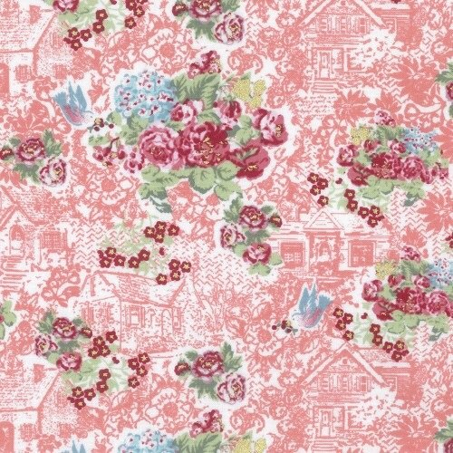 Lecien Loyal Heights by Jera Brandvig - Strawberry Floral Cottage (Metallic