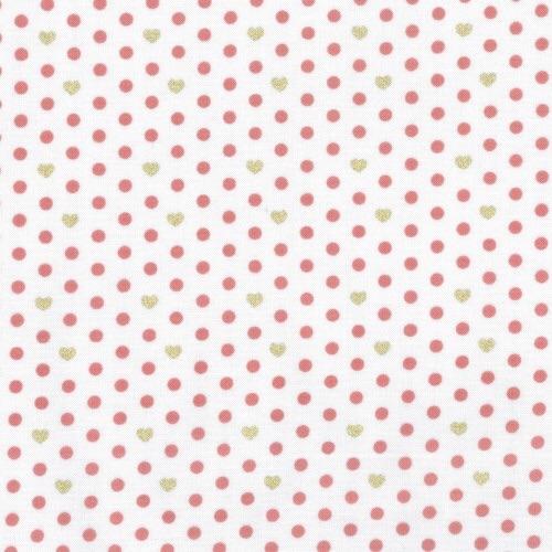 Lecien Loyal Heights by Jera Brandvig - Strawberry on White Heart Dot (Meta