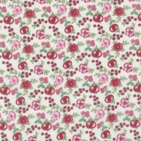 Lecien Loyal Heights by Jera Brandvig - Cream Fruit Blooms (Metallic)