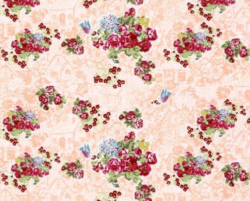 Lecien Loyal Heights by Jera Brandvig - Peach Floral Cottage (Metallic)