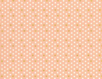 Lecien Loyal Heights by Jera Brandvig - Peach Heart Dot (Metallic)