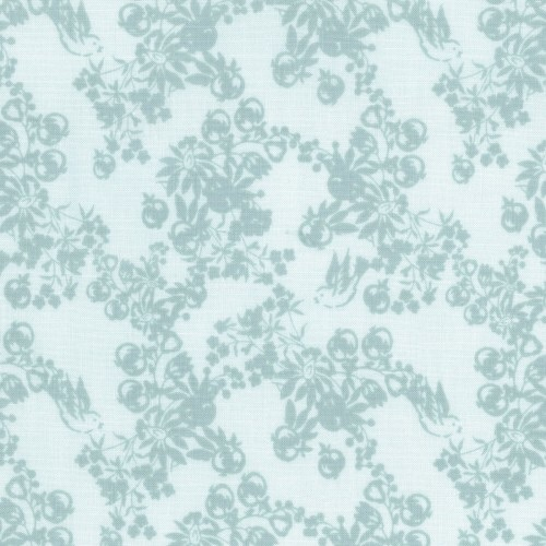 Lecien Loyal Heights - Dewdrops Birds and Berries - Felt Backed Fabric