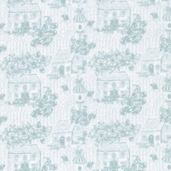 Lecien Loyal Heights - Dewdrops Cottages - Felt Backed Fabric