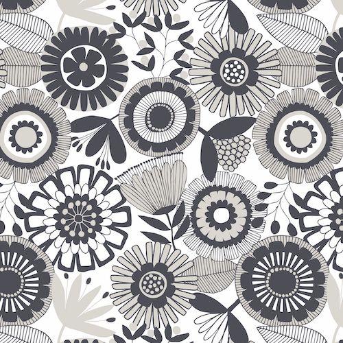 Flourish by Dashwood Studio - Monocrome Floral