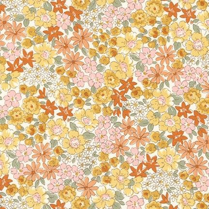 Petite Garden Meadow Yellow Floral by Sevenberry
