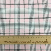 Tartan - Pink with Grey - Felt Backed Fabric