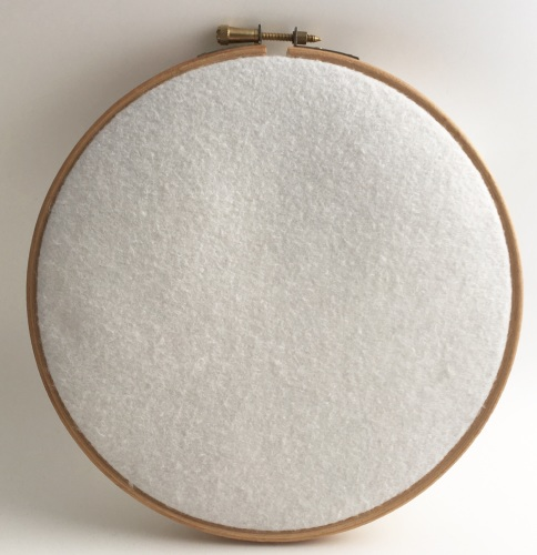 <!--002--> Antique White Wool Blend Felt