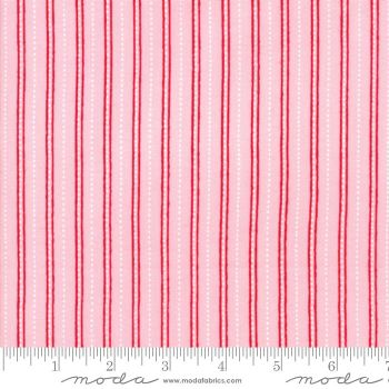 Moda Fabrics - Merry Merry Snow Days - Candy Cane Stripe Pink