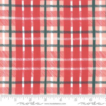 Moda Fabrics - To be Jolly - Berry Plaid