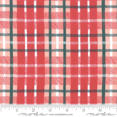 Moda - To be Jolly - Berry Plaid  - Felt Backed Fabric
