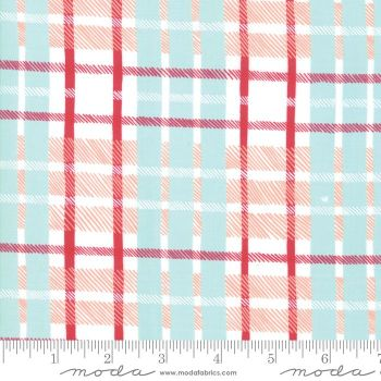 Moda - To be Jolly - Frosty Plaid  - Felt Backed Fabric