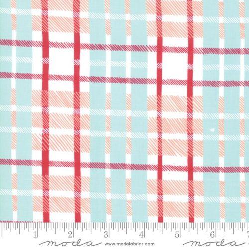 Moda - To be Jolly - Frosty Plaid  - Felt Backed Fabric