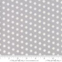 Moda - Merry Merry Snow Days - Snowflakes Grey - Felt Backed Fabric