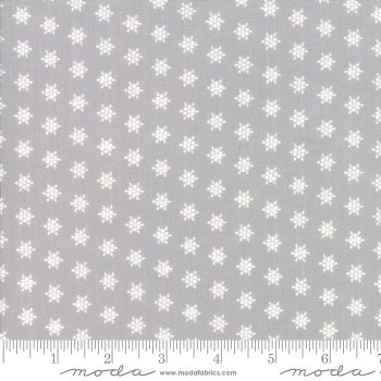 Moda - Merry Merry Snow Days - Snowflakes Grey - Felt Backed Fabric