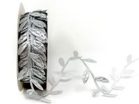 Silver Cut Leaf Trim
