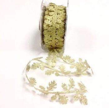 Gold Cut Leaf Garland Trim
