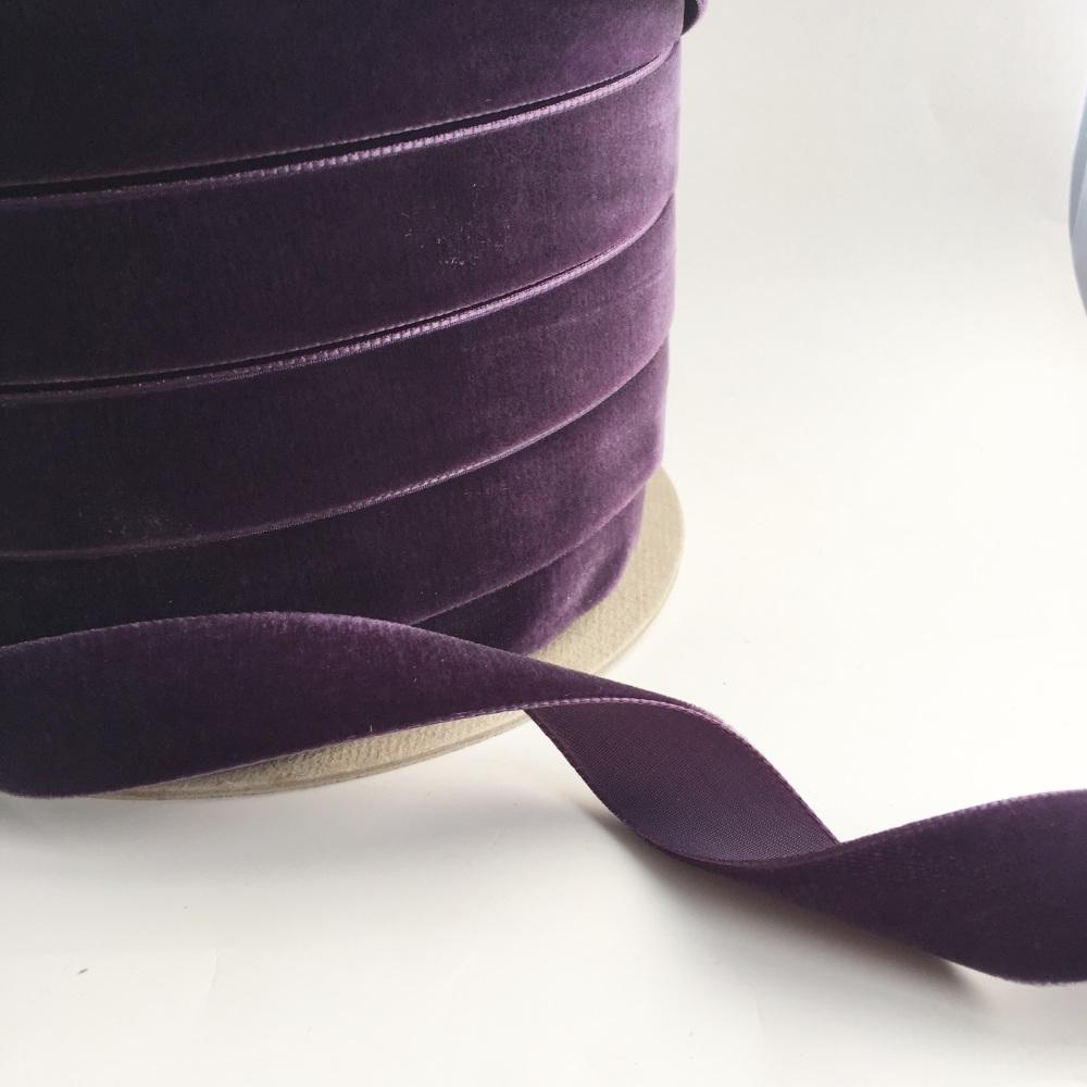 22mm Velvet Ribbon - Damson