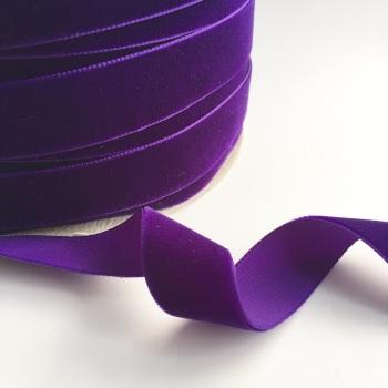 22mm Velvet Ribbon - Purple