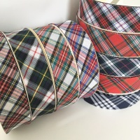 30mm Tartan Print Bias Binding