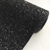 Premium Chunky Glitter Fabric - Black
