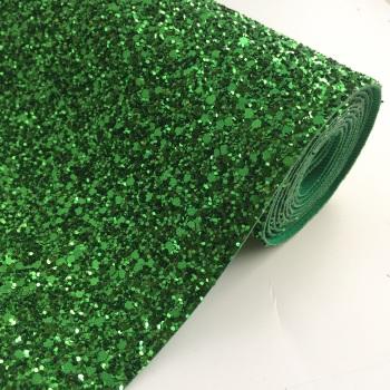 Premium Chunky Glitter Fabric - Emerald Green