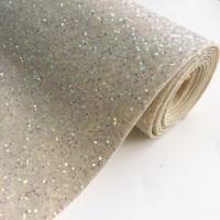 Premium Chunky Glitter Fabric - Ivory