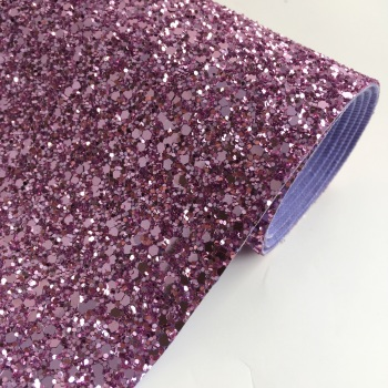 Premium Chunky Glitter Fabric - Lavender Rose
