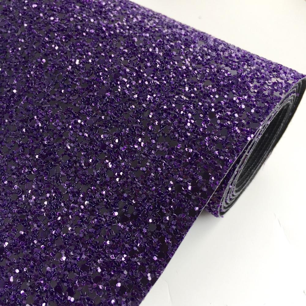 Premium Chunky Glitter Fabric - Purple